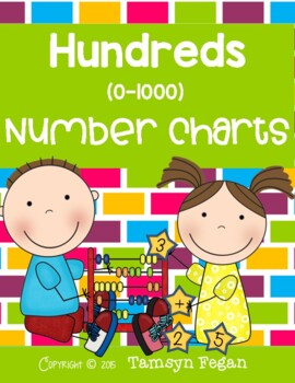 Hundreds Number Charts (0-1000)