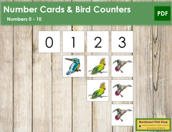 0 to 10 Number Cards and Counters - Birds