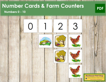 0 to 10 Number Cards and Counters - Farm