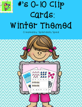 1:1 Correspondence-Winter Themed Clip Cards
