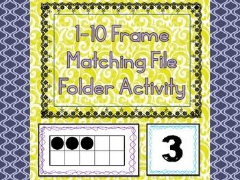 1-10 Frame Matching File Folder Activity