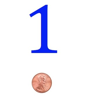 1-10 Number Line with Money Freebie
