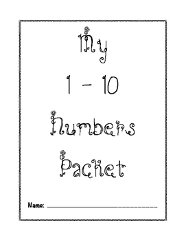 1-10 Numbers Packet