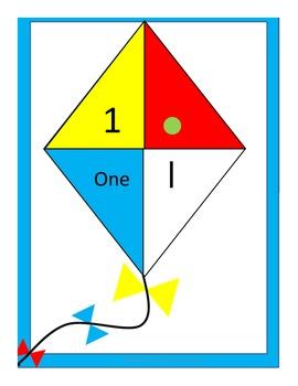 1-10 on colorful kites