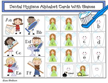 1,100 Followers FREEBIE! Dental Hygiene Alphabet Cards With Games