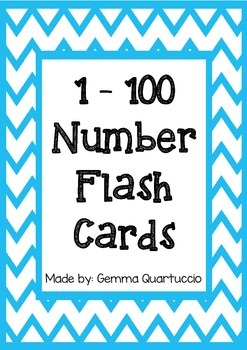 1 - 100 Number Flash Cards
