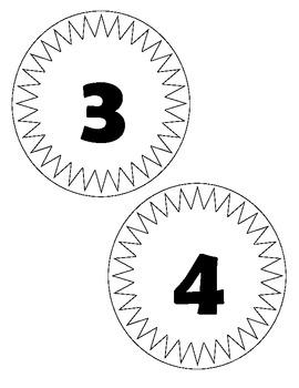 1-10 Number Line Sample