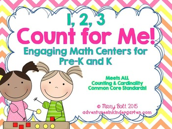 1 2 3, Count with Me! - Math Centers and So Much More {Com