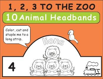 1,2,3 TO THE ZOO Eric Carle -Animal Headbands