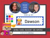 1/2 OFF - 48 Hours! Editable Blockcraft Kids Nametags - 9