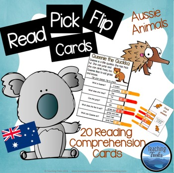 Reading Comprehension Passages with Clothespins: Australia