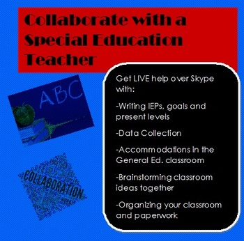1/2 hour Collaboration Session with a Special Education Teacher