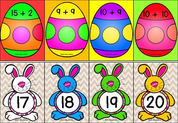 #betterthanchocolate 1-20 Addition Match (Easter)