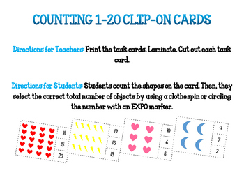 1-20 Clip Cards