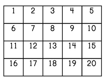 1-20 Math Games