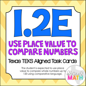 1.2E: Comparing Numbers using Place Value TEKS Aligned Tas
