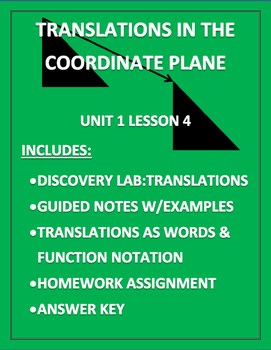 Translation in the Coordinate Plane PDF