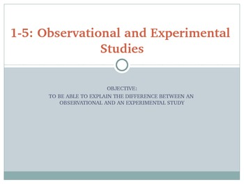 1-5 Notes Observational and Experimental Studies