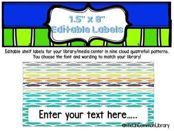 "1.5 x 8"" Editable Shelf Markers for your Library Media Cen"