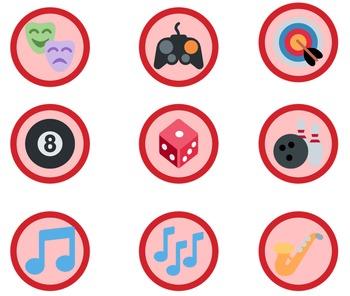 1,653 Red Emoji Badges