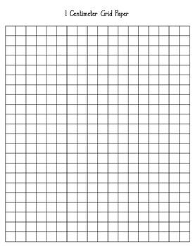 1 Centimeter Grid Paper