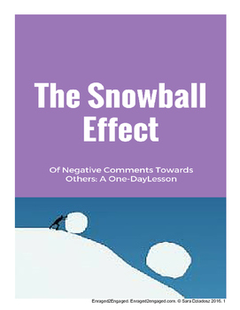 1-Day Lesson: The Snowball Effect of Negative Comments Tow