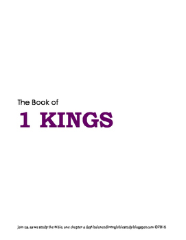 1 Kings WORD Guide