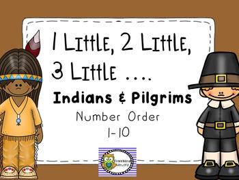 1 LITTLE, 2 LITTLE, 3 LITTLE INDIANS AND PILGRIMS