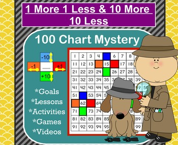 1 More 1 Less 10 More 10 Less Smartboard Mystery