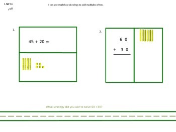 1.NBT.4 and 1.NBT.6 Adding Multiples of Ten to a 2-Digit Number