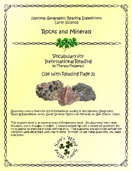 1 NGRE Rocks and Minerals - Vocabulary, p31