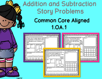 1.OA.1 - 20 Addition and Subtraction Story Problems