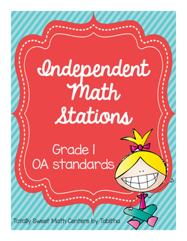1.OA Independent Math Stations: 1OA.1-8 File Folder Activities