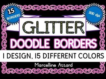 GLITTER FRAMES: GLITTER BORDERS IN 15 COLORS: GLITTER CLIP