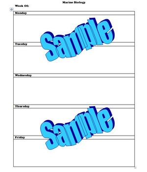 1 Page Weekly Lesson Plan Template, #1