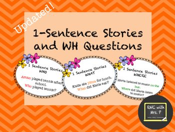 Updated 9/1/16! Auditory Working Memory:1 Sentence Stories