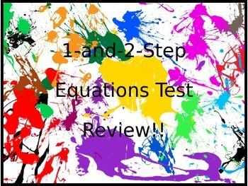 1 Step & 2 Step Equations.