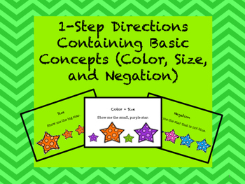 Following Directions: 1-Step Containing Basic Concepts (Co