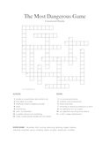 #1 The Most Dangerous Game Vocabulary Crossword Puzzle (Connell)