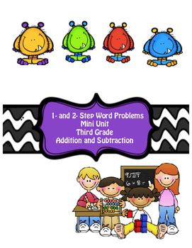 1- and 2- Step Word Problems Addition and Subtraction (Bun