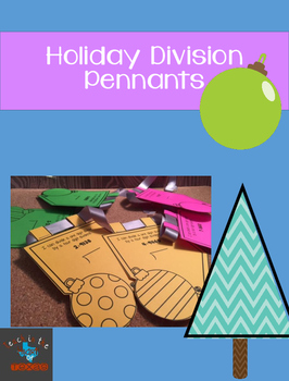1 by 4 Long Division Christmas Pennant Banner