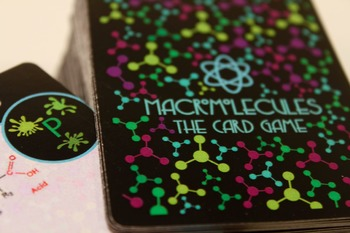 1 macromolecules card game deck with instructions