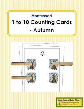 1 to 10 Counting Cards - Autumn