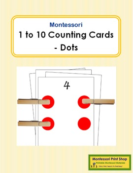 1 to 10 Counting Cards - Dots (black and red)