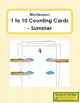 1 to 10 Counting Cards - Summer