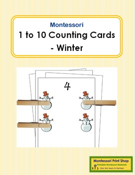 1 to 10 Counting Cards - Winter
