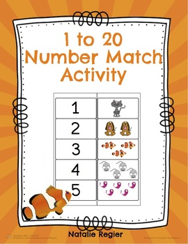 1 to 20 Number Match Activity