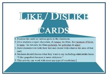 1 to 5 like dislike posters Spanish