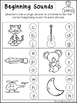 10 Beginning Sounds Worksheets. Preschool and Kindergarten