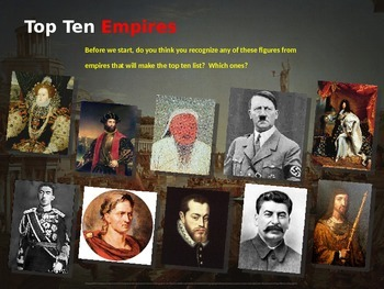 10 Biggest Empires in History: Interactive PPT with handou